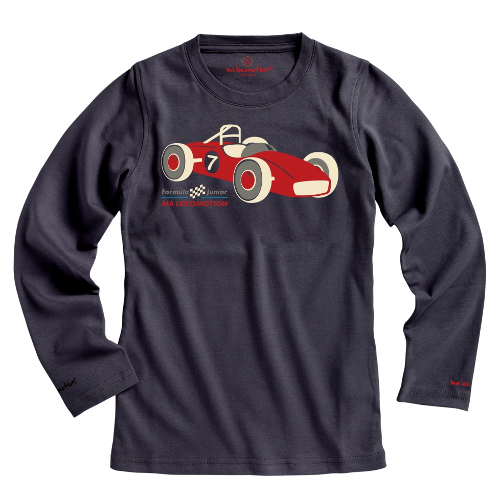 T-shirt voiture de course anthracite