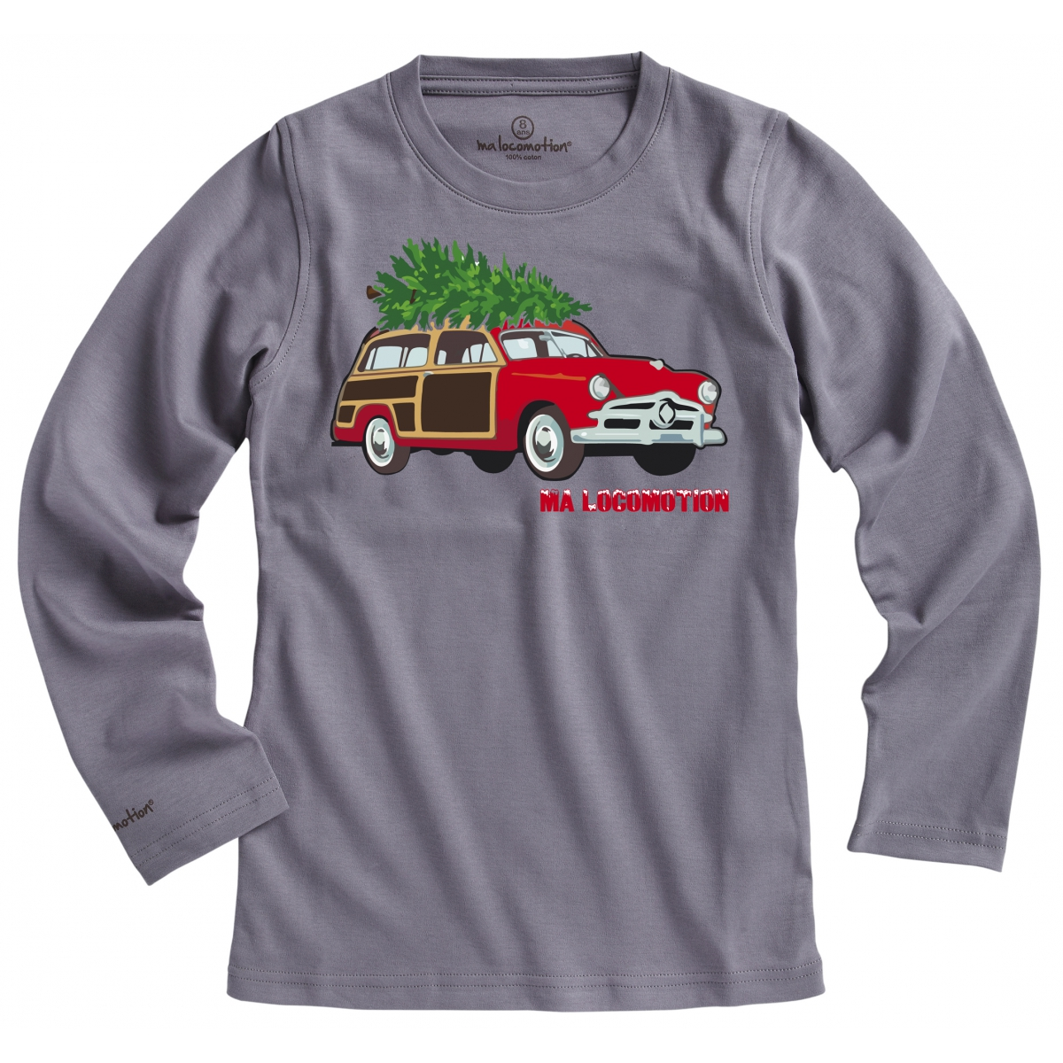 T-shirt voiture de Noël - anthracite
