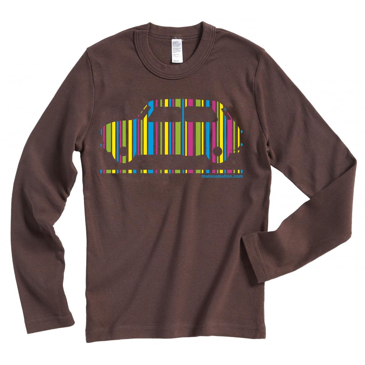T-shirt Austin Mini code-barres chocolat manches longues