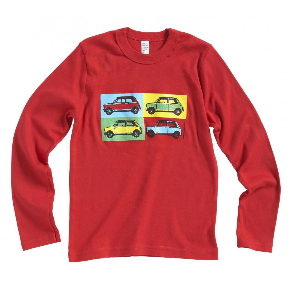 Austin Mini pop art t-shirt - red