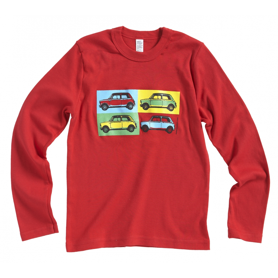 T-shirt Austin Mini pop art rouge