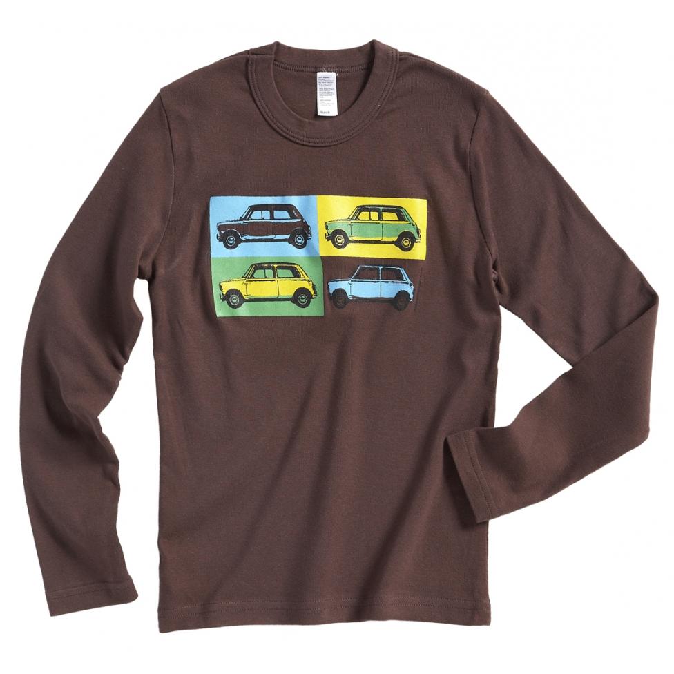 Austin Mini pop art t-shirt - brown