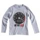 T-shirt compte-tours gris chiné