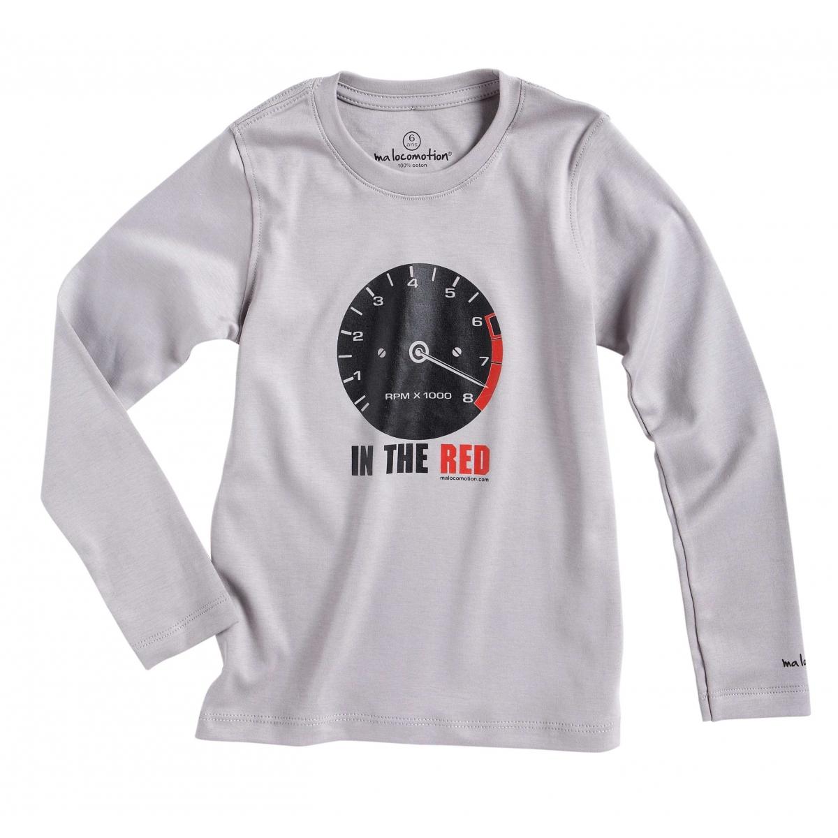 Tee shirt vintage compte-tours gris pale