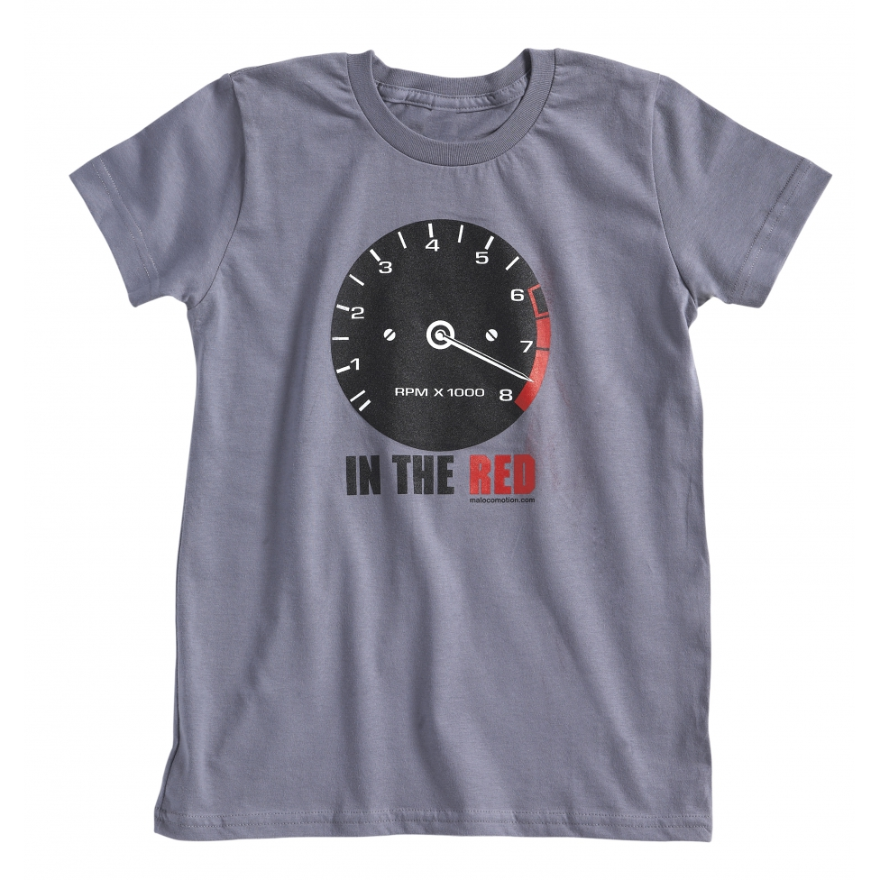 Short sleeves vintage rev-counter t-shirt for kids - slate grey