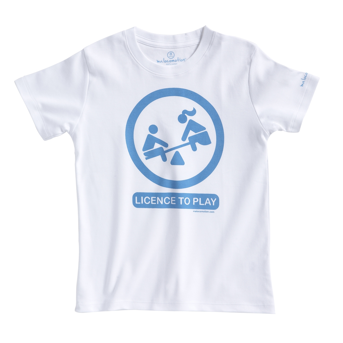 Licence to play t-shirt - blue