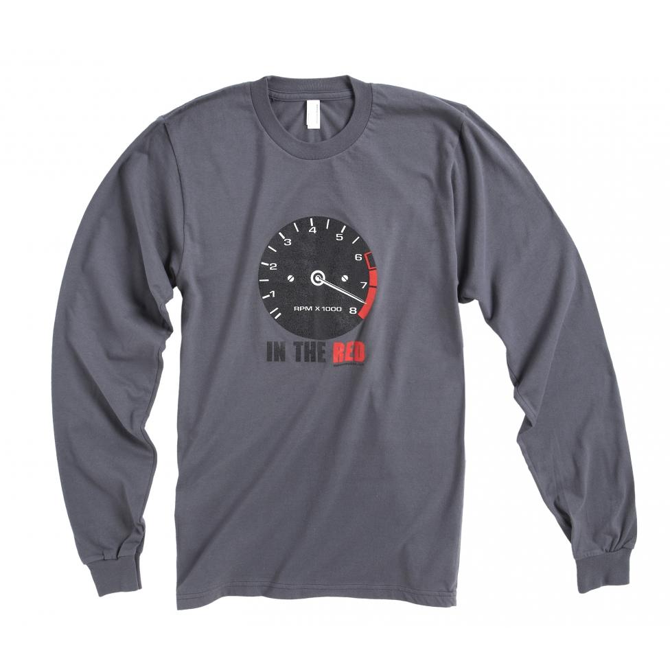Long sleeves vintage rev-counter t-shirt - aspahlt grey