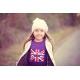 T-shirt Austin Mini drapeau anglais violet pour enfants - manches longues