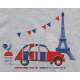 T-shirt 2CV Paris Tour Eiffel