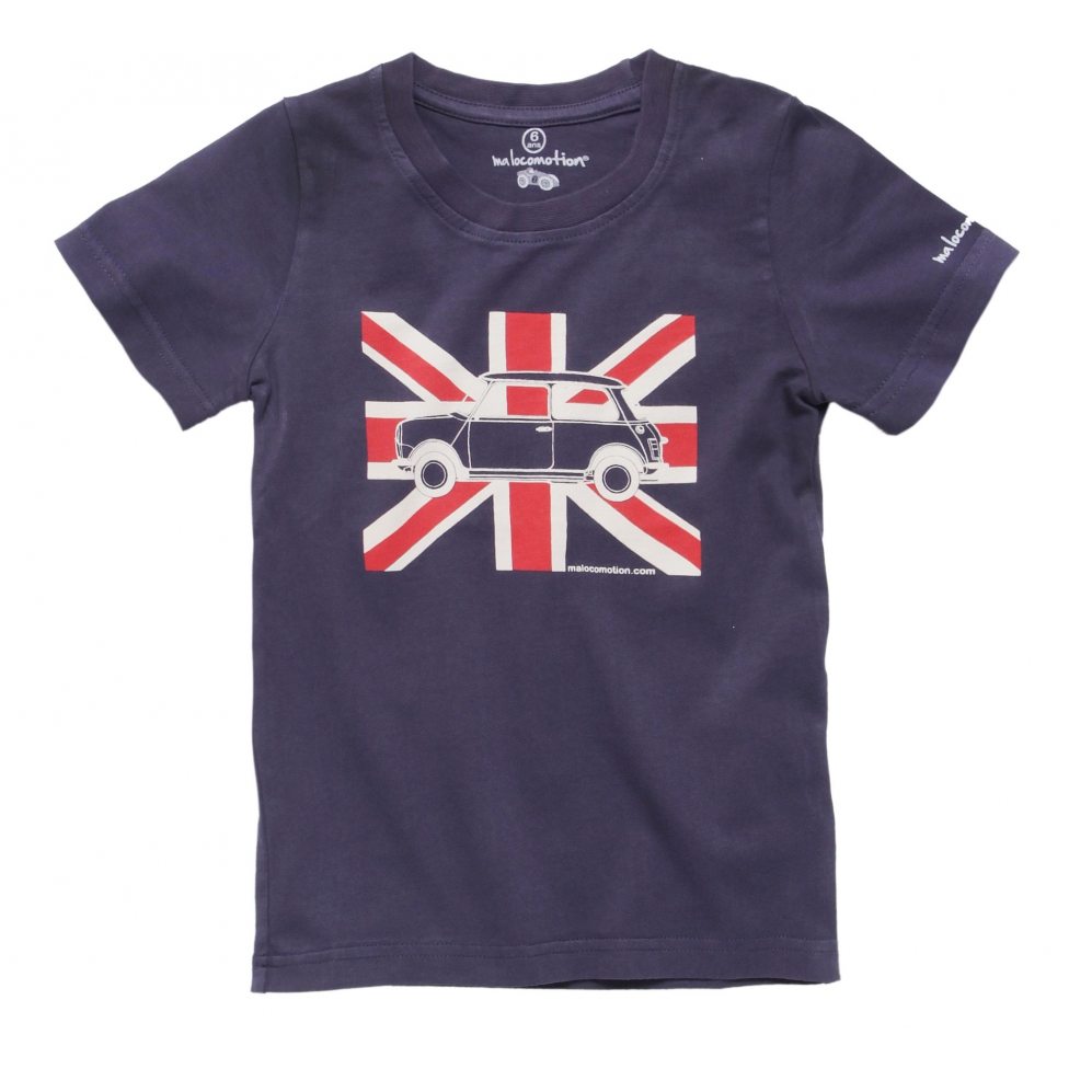 Short Sleeves Austin Mini Union Jack t-shirt for kids