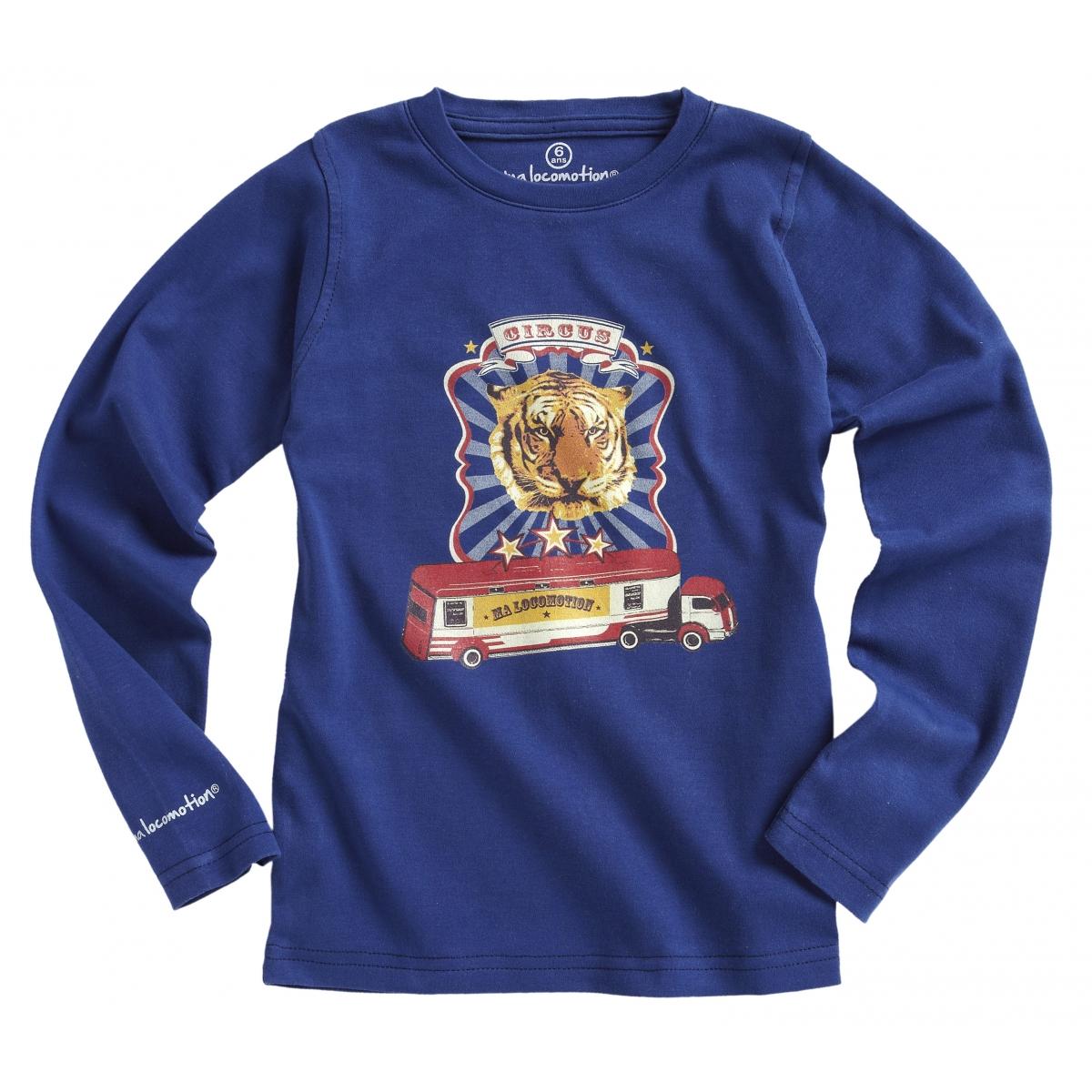 T-shirt cirque bleu cobalt
