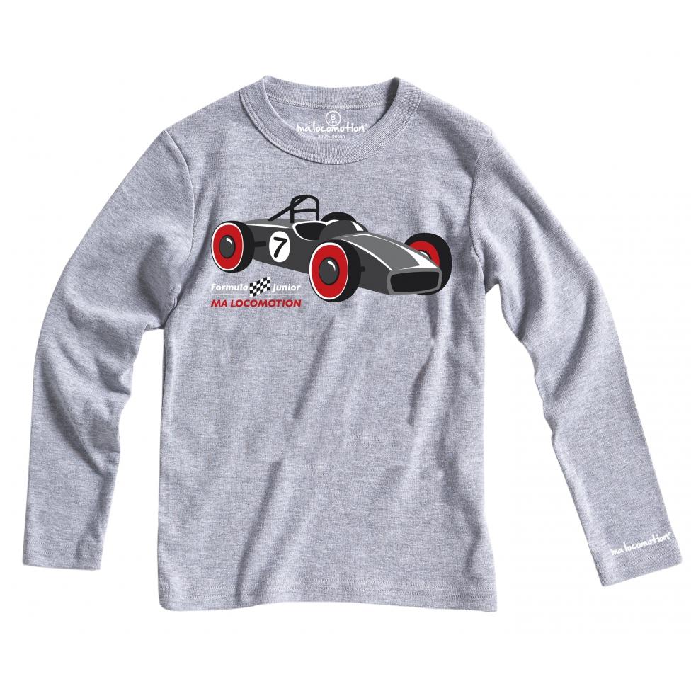 T-shirt Bolide gris chiné