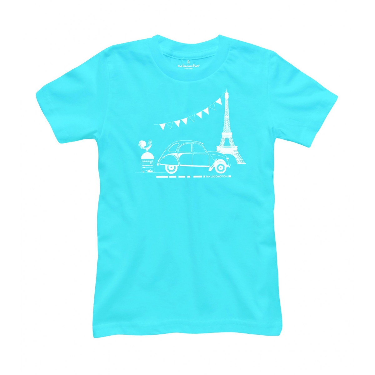 neon blue 2cv t shirt ma locomotion