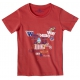 T-shirt road music rouge hibiscus
