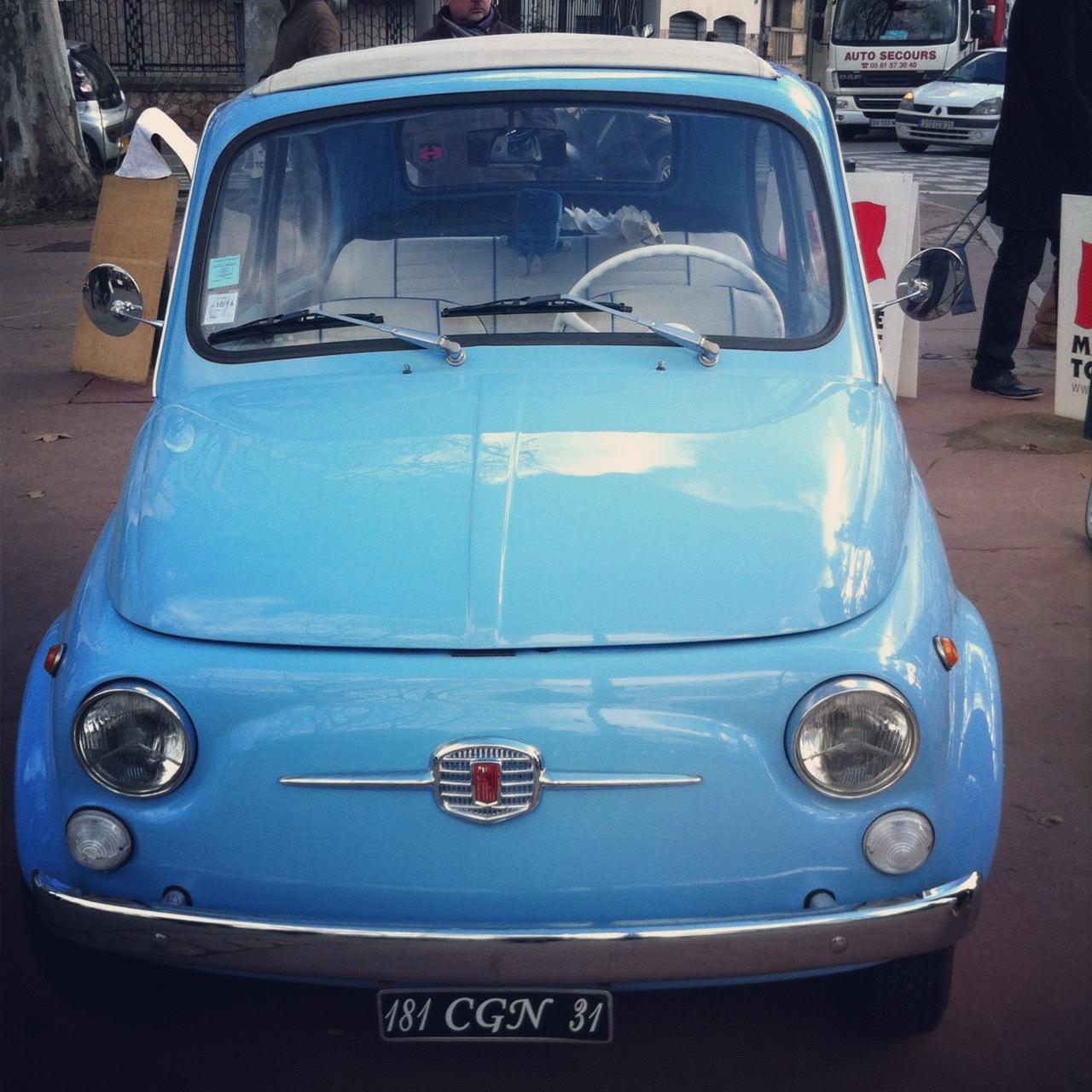 Fiat 500 au Grand Rond