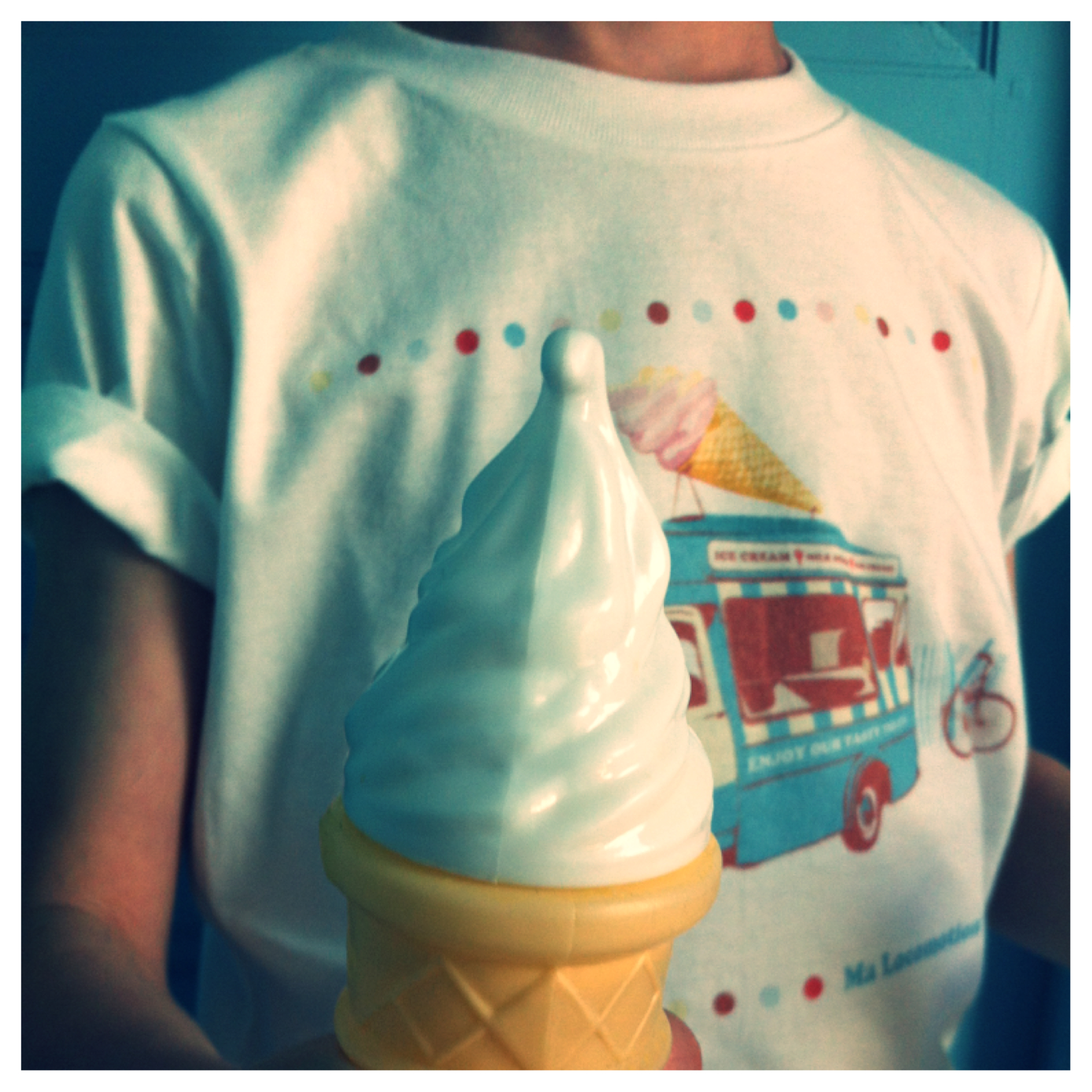 T-shirts camion du glacier détail du cornet de glaces