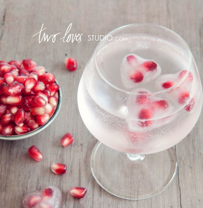 Pomegranate ice cubes from Two loves studio