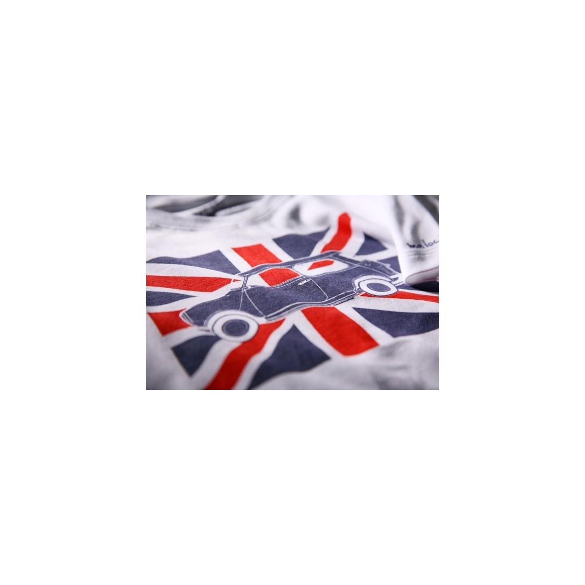 T-shirt Austin Mini drapeau anglais manches courtes