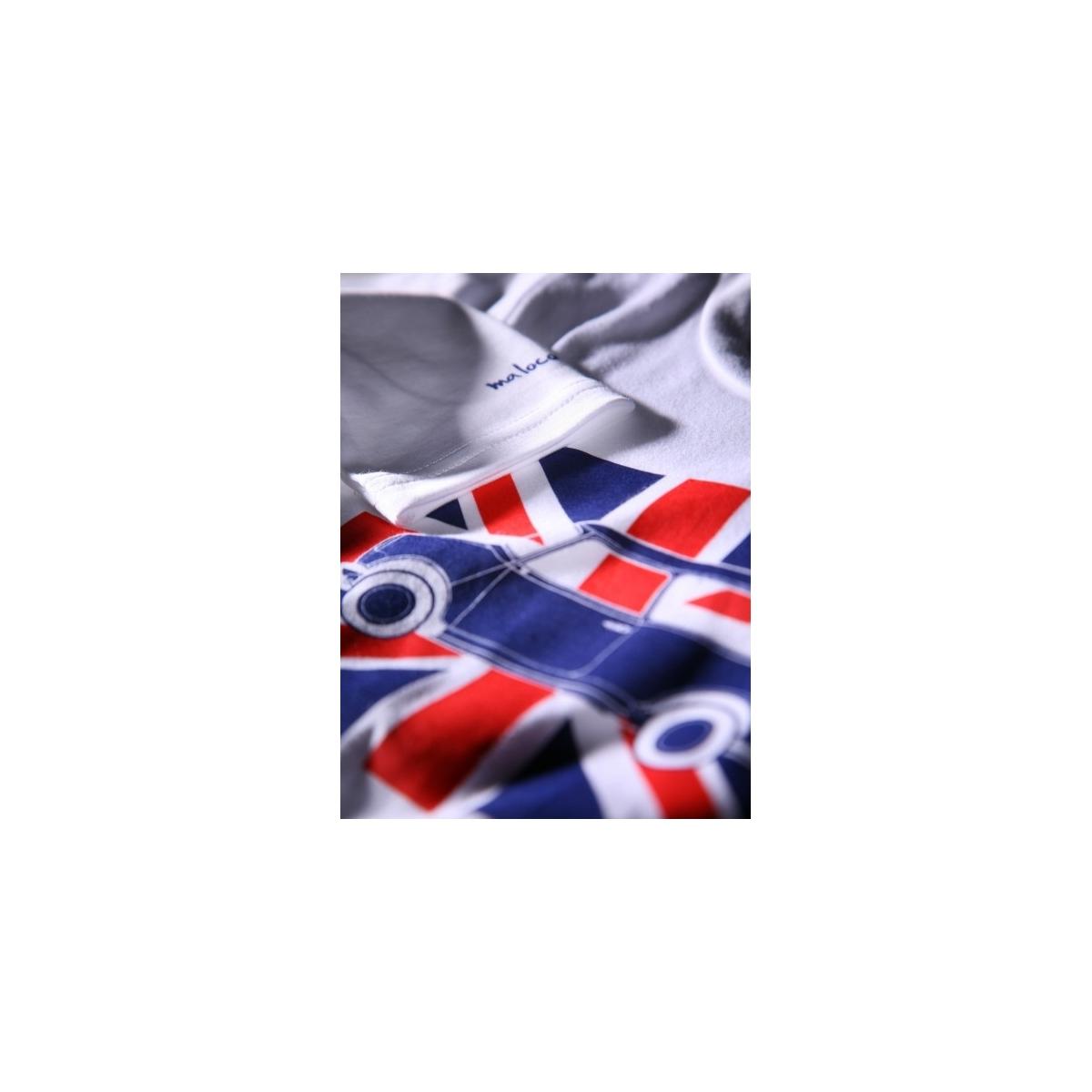 T-shirt enfant Austin Mini Union Jack Blanc -manches longues