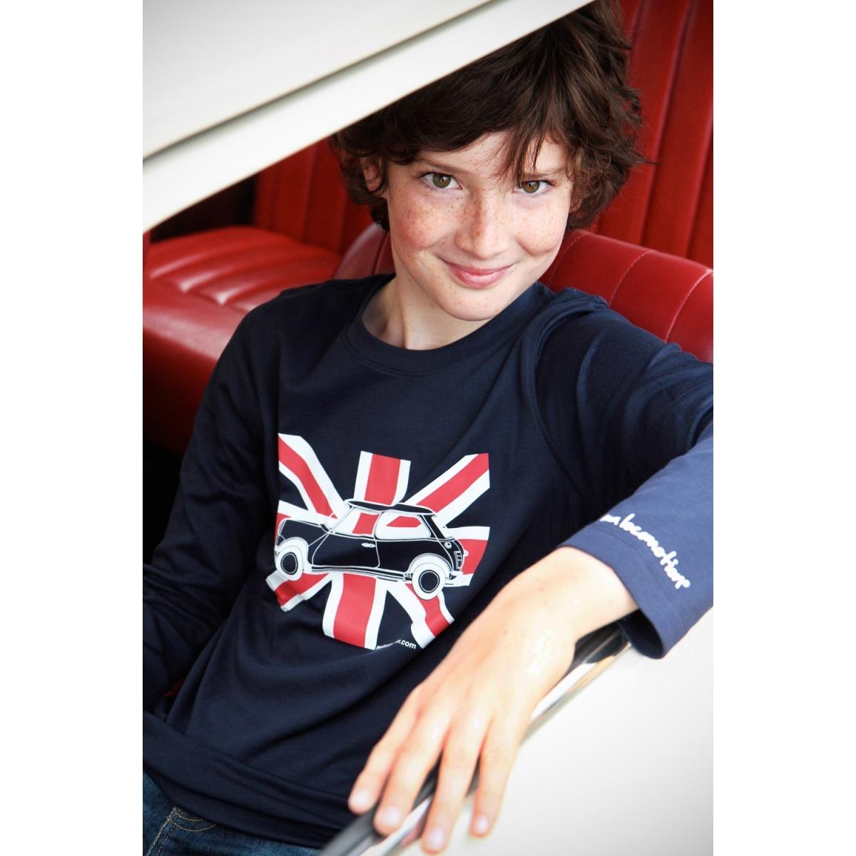 Long sleeves Austin Mini Union Jack t-shirt for kids