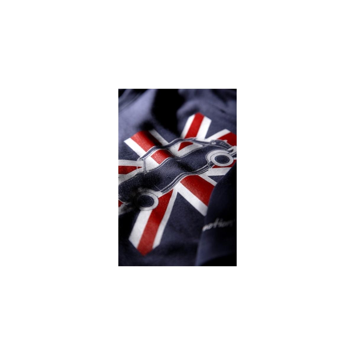 T-shirt enfant Austin Mini Union Jack Marine - manches longues