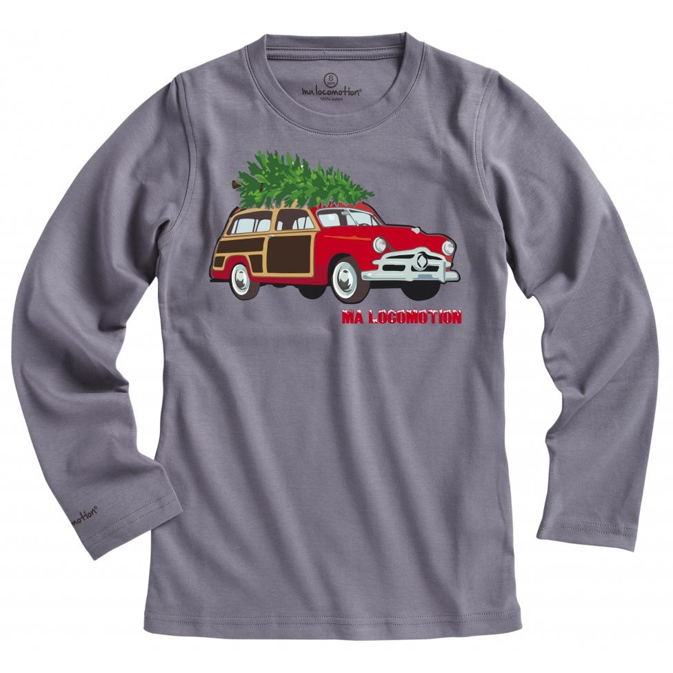 T-shirt voiture de Noël - anthracite