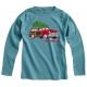 T-shirt voiture de Noël - vert céladon