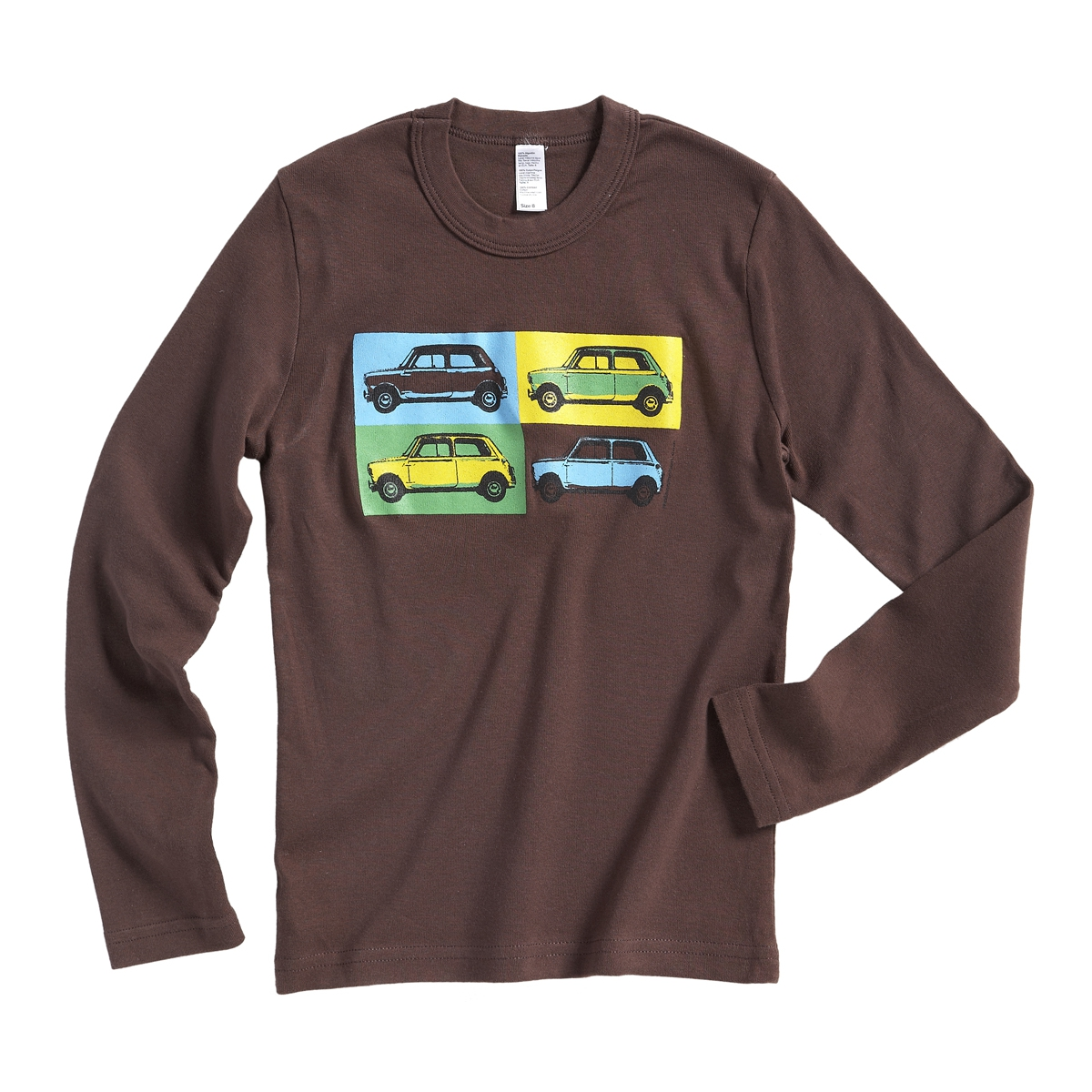 Austin Mini pop art t-shirt - brown