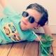 T-shirt enfant Austin Mini Pop art vert menthe