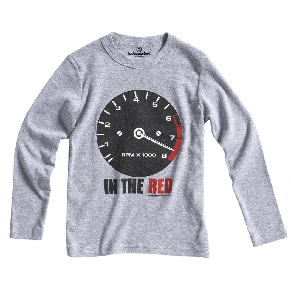 Long sleeves vintage rev-counter t-shirt for kids - heather grey
