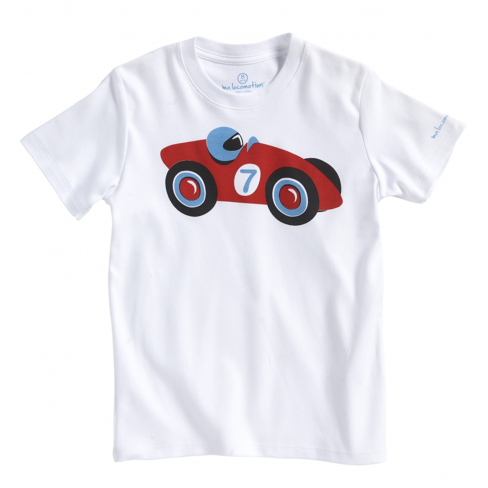 Kid racing car t-shirt