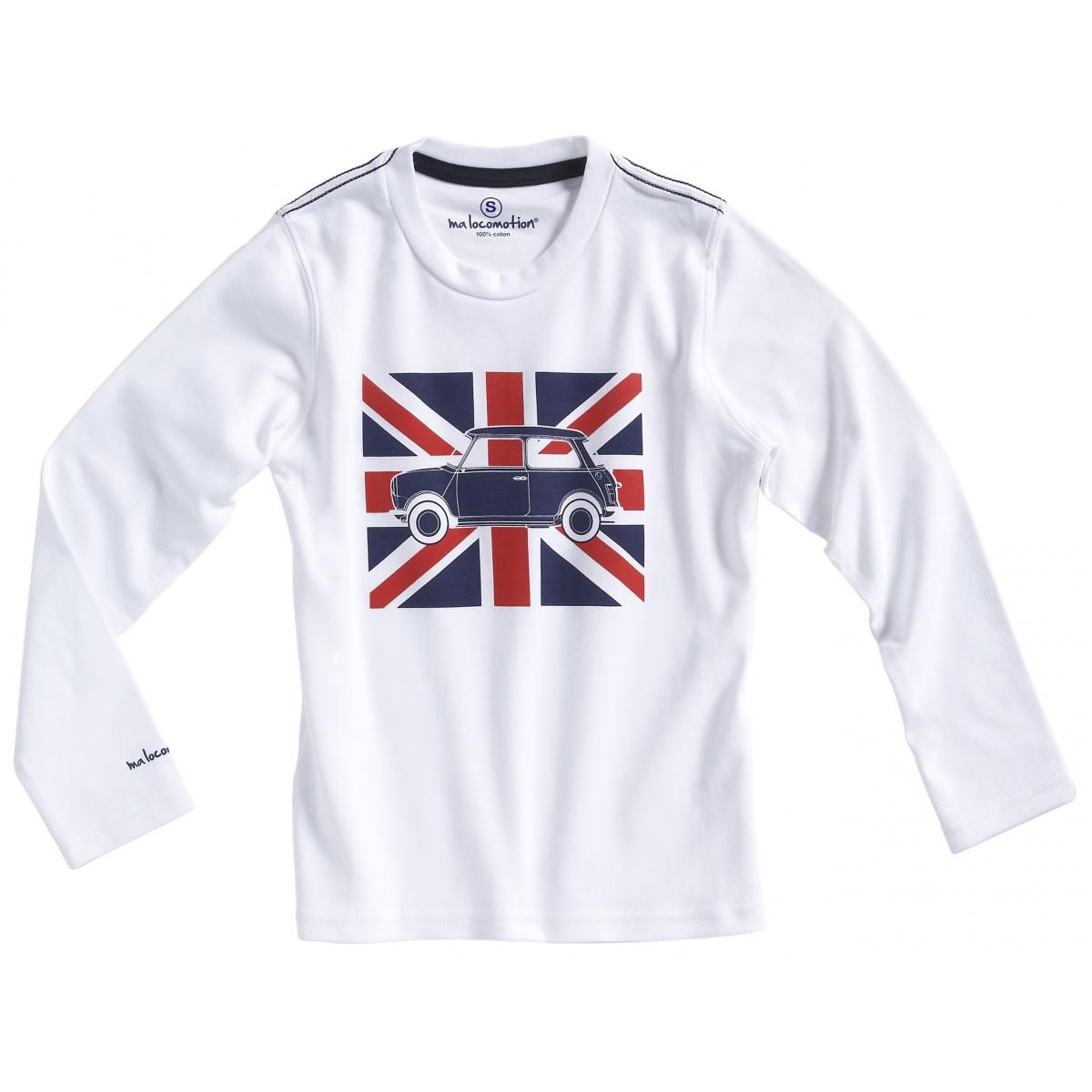T-shirt Austin Mini drapeau anglais blanc pour adulte