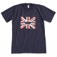 Short sleeves Austin Mini Union Jack t-shirts - navy