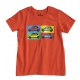 T-shirt Austin Mini Pop art orange