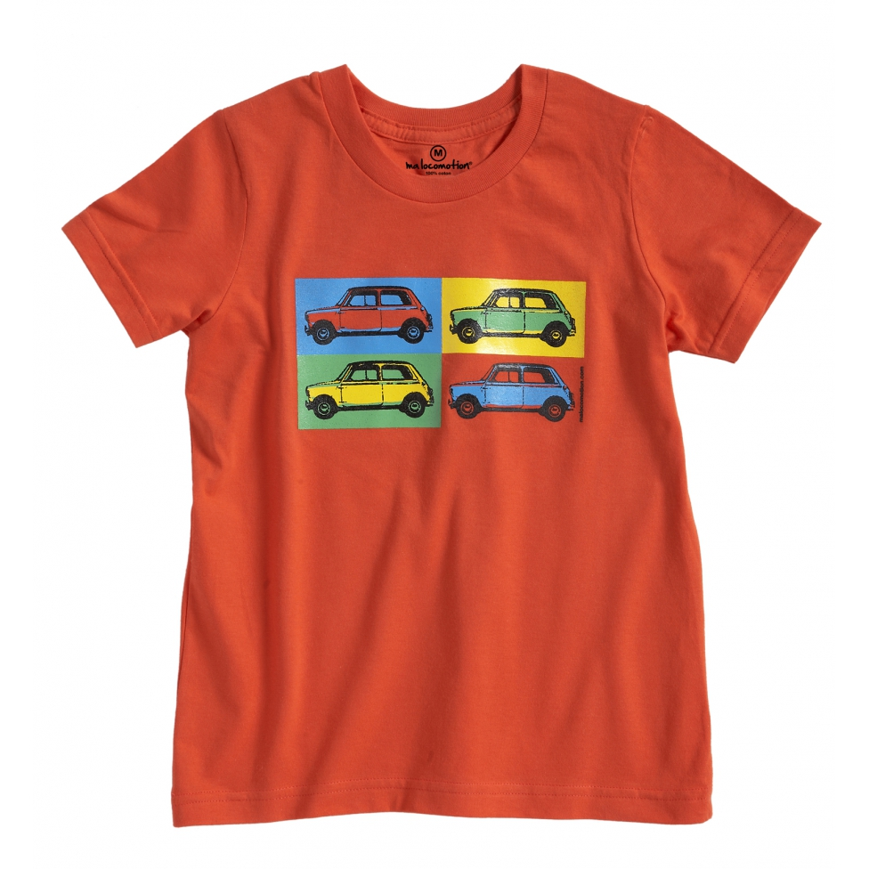 T-shirt Austin Mini Pop art orange