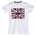 Short sleeves Austin Mini Union Jack t-shirts for adults - white
