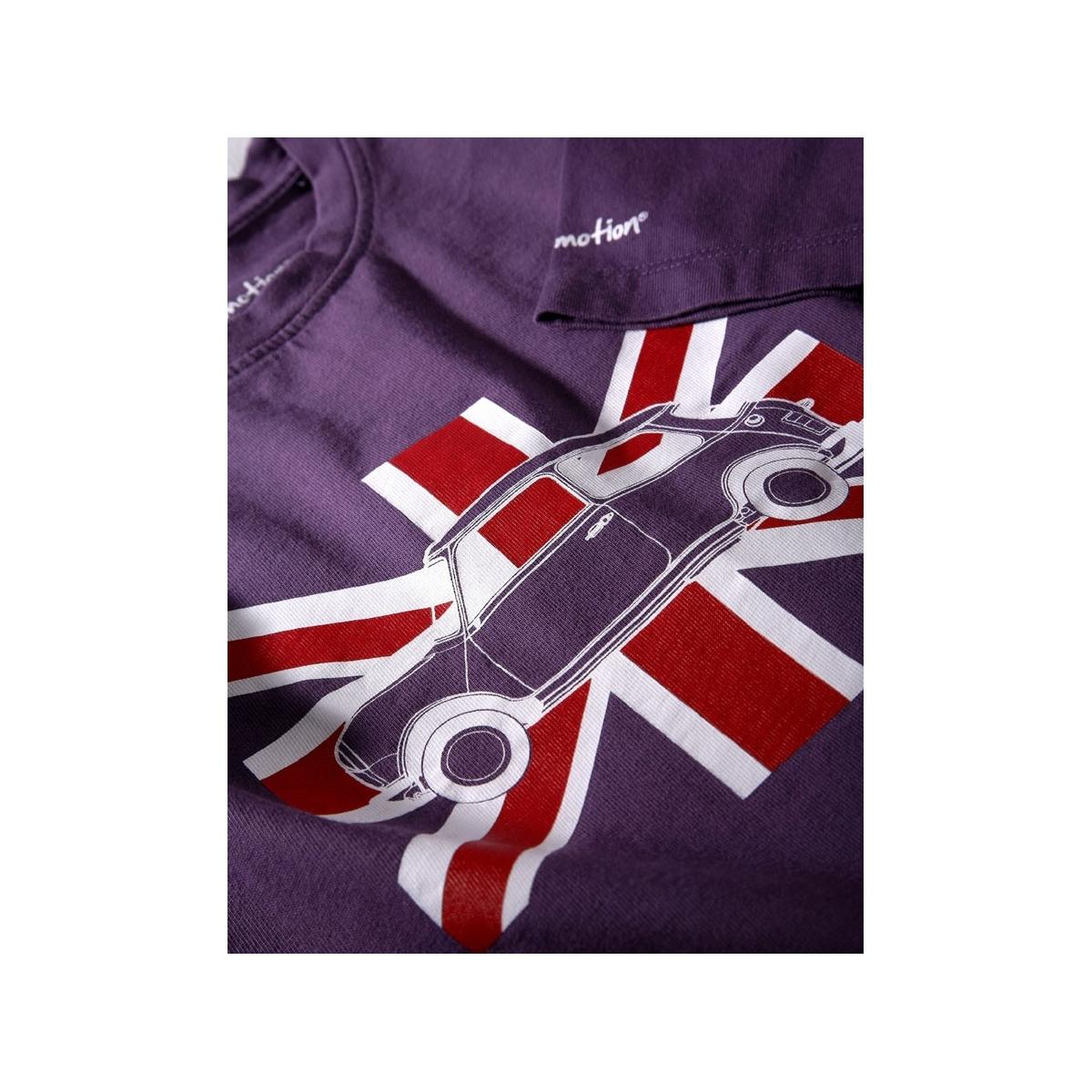 Long sleeves Austin Mini Union Jack purple t-shirt for kids