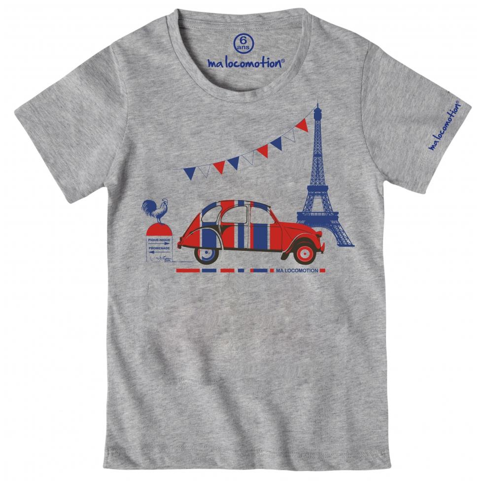 T-shirt 2CV Paris Tour Eiffel