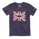 T-shirt Austin Mini drapeau anglais marine à manches courtes
