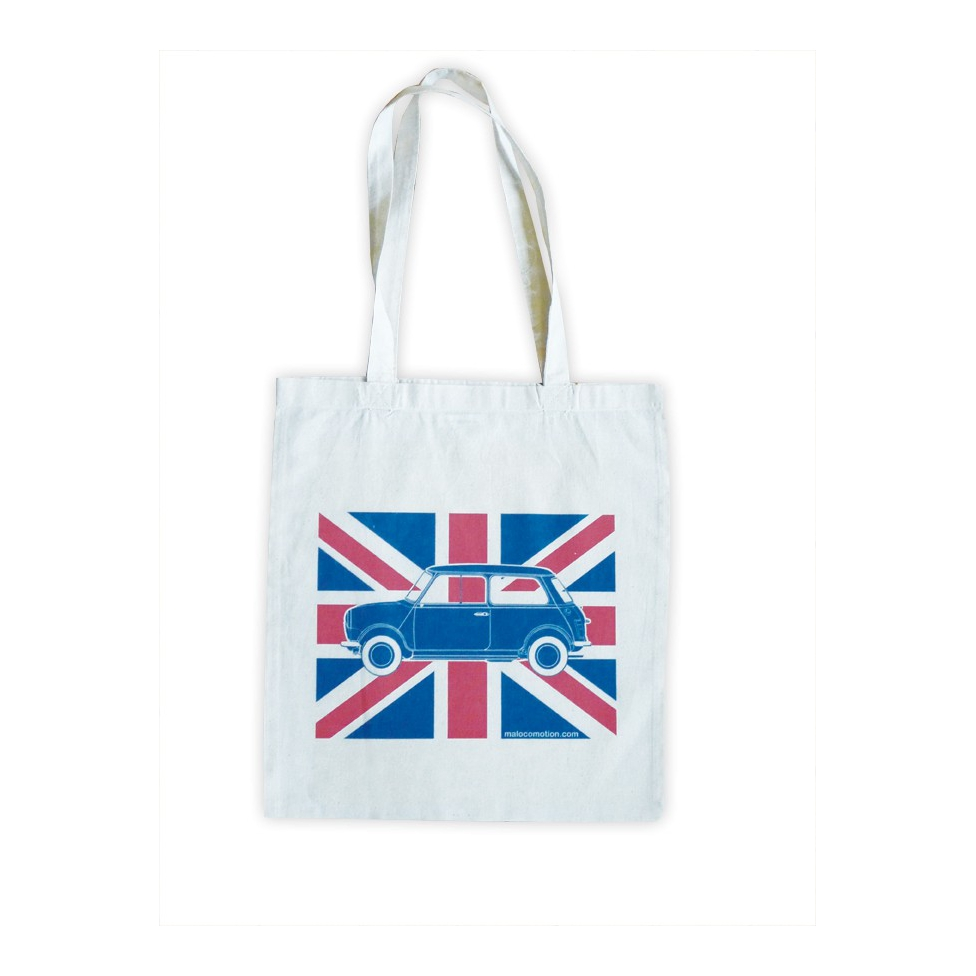 Austin Mini Union Jack tote bag
