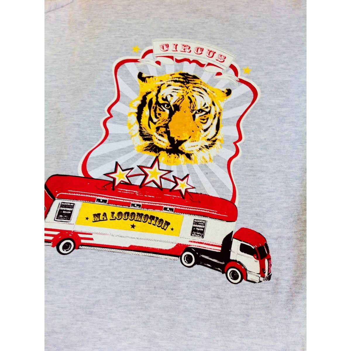 Tee shirt cirque gris chiné
