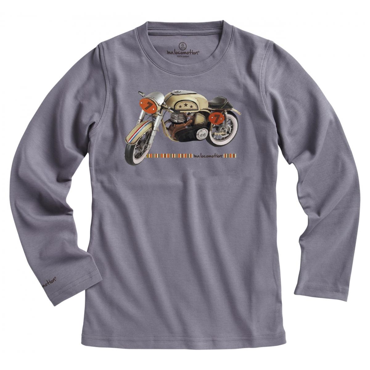 T-shirt moto vintage - gris
